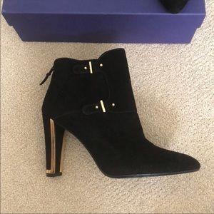 New Stuart Weitzman Suede Boots Black Size 8